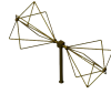 30MHz - 300MHz  EMC Biconical Antenna   OBC-033-10W-1