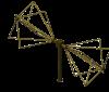 160MHz - 1100MHz  EMC Biconical Antenna OBC-160M1100M-5W-1