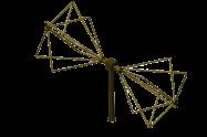 45MHz - 450MHz  EMC Biconical Antenna , Biconical radial isotropic broadband antenna