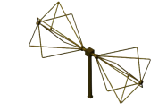 60MHz - 600MHz  EMC Biconical Antenna  <br> OBC-066-10W-1