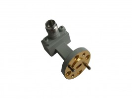 WR15   50.0-65.0GHz Right Angle Waveguide to Coaxial Adapter