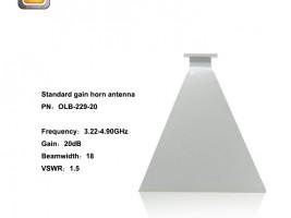 standard gain horn antenna,horn antenna,3.30 - 4.90GHzhorn antenna,EMI horn antenna, anifonic horn antenna