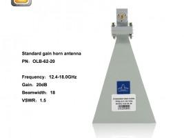 standard gain horn antenna,horn antenna,12.4-18GHz horn antenna,EMI horn antenna, anifonic horn antenna