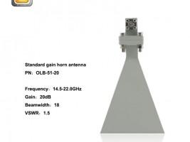 standard gain horn antenna,horn antenna,5.85 - 8.20 horn antenna,EMI horn antenna, anifonic horn antenna,WR-51