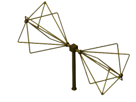 3GHz - 18GHz EMC Biconical Antenna , Biconical radial isotropic broadband antenna