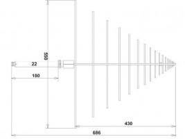 EMC Log-Periodic Broadband  Antenna  OLP-370
