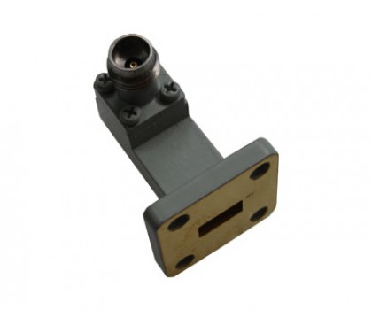WR28   26.5-40.0GHz Right Angle Waveguide to Coaxial Adapter