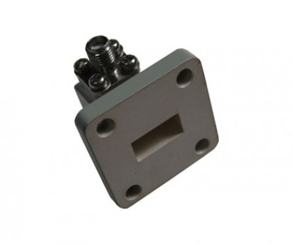 WR51   15.0-22.0GHz Right Angle Waveguide to Coaxial Adapter