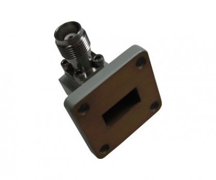 WR62   12.4-18.0GHz Right Angle Waveguide to Coaxial Adapter