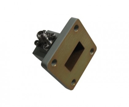 WR75   10.0-15.0GHz Right Angle Waveguide to Coaxial Adapter