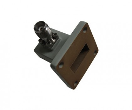 WR90   8.2-12.4GHz Right Angle Waveguide to Coaxial Adapter