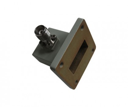 WR112   7.05-10.00GHz Right Angle Waveguide to Coaxial Adapter