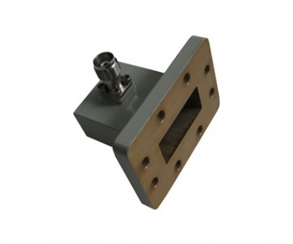 WR137   5.85-8.20GHz Right Angle Waveguide to Coaxial Adapter