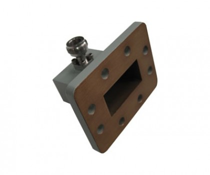 WR159   4.90-7.05GHz Right Angle Waveguide to Coaxial Adapter