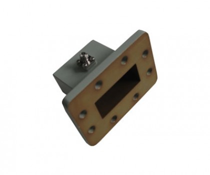 WR187   3.95-5.85GHz Right Angle Waveguide to Coaxial Adapter