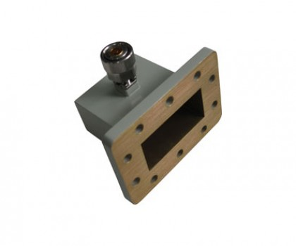 WR229   3.3-4.9GHz Right Angle Waveguide to Coaxial Adapter