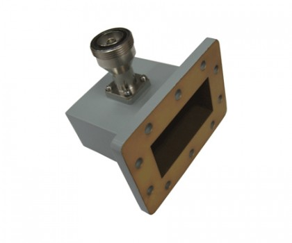 WR284   2.60-3.95GHz Right Angle Waveguide to Coaxial Adapter