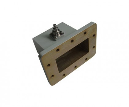 WR340   2.2-3.3GHz Right Angle Waveguide to Coaxial Adapter