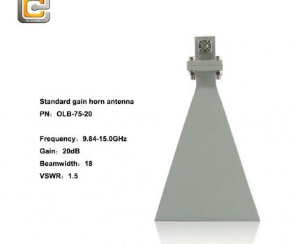 standard gain horn antenna,horn antenna,10-15GHz horn antenna,EMI horn antenna, anifonic horn antenna