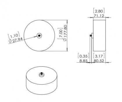 0.5GHz-2.0GHz Cavity Backed Spiral Antenna, Spiral Antenna