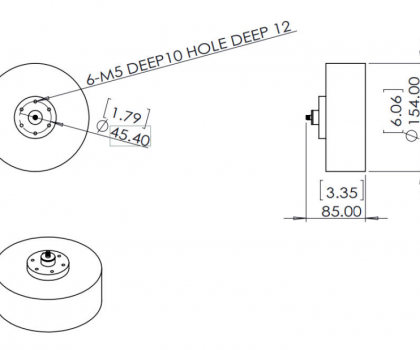 0.8-4.0GHz Cavity Backed Spiral Antenna OBS-840