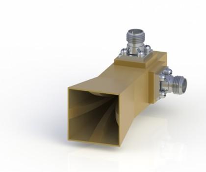 18-40GHz Double Polarization Horn Antenna ODPA-180400-20mm