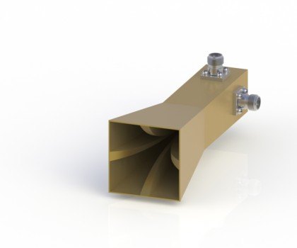 18-40GHz Double Polarization Horn Antenna ODPA-180400-30mm