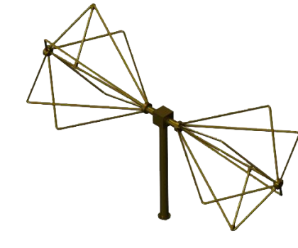 30MHz - 300MHz  EMC Biconical Antenna  , Biconical radial isotropic broadband antenna