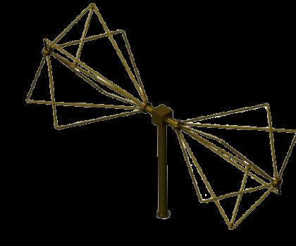 30MHz - 1200MHz  EMC Biconical Antenna  ,Biconical radial isotropic broadband antenna