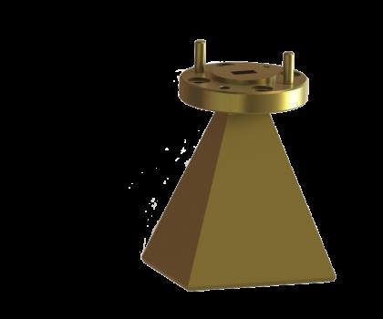 50.0-75.0 WR-15  Standard Gain Horn Antenna  OLB-15-20  Millimeter SGH Antenna antenna  horn antenna