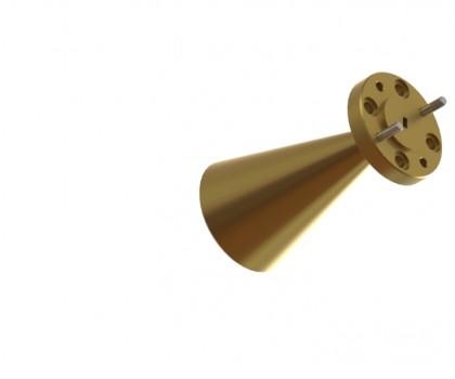 100-112 GHz Conical Horn Antenna