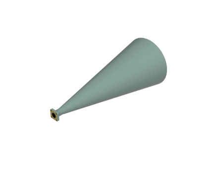 17.5-20.5 GHz Conical Horn Antenna OCN-470-15